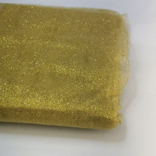 "Gold Glitter Tulle 54"" / 20 Y"